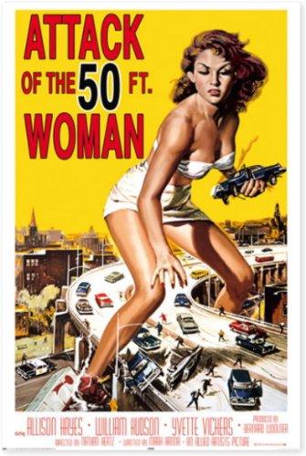 ポスター 妖怪巨大女 Attack of the 50 FT. Woman