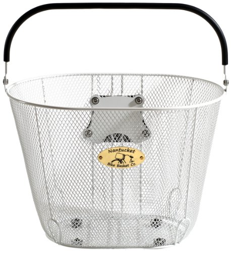 Nantucket Bike Basket CompanySurfside Collection Mesh Wire Adult Bike Basket with Quick Release