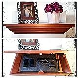 Covert Cabinets HG-21 Handgun Gun Cabinet Wall Shelf Hidden Storage, Cherry (Maple Wood)