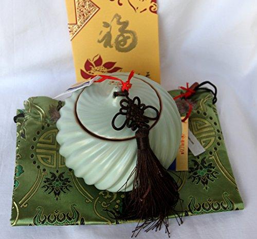 Joy-Shangku Very Beautiful Tea Pot, Pale Green Glaze Ceramic Sealed Jar/Tea Pot/Decoration (L3) (Nu Kiln)---Ridded