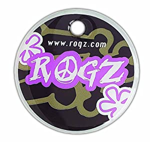 Rogz ID Tag for Dogs and Cats, Small, Choc Feminine Design