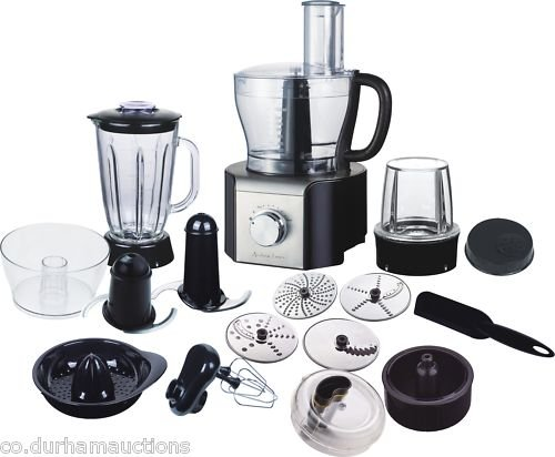 #1 New Andrew James Food Processor Blender Juicer Grinder Over 10 Different Attachments including Glass Blender. New In Stock