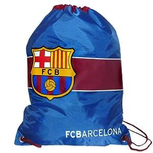 Barcelona FC Football Club Official Crested Drawstring Gym Bag