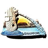 シンガポール マーライオン ライオン魚像 3 D ガレージ グッズ冷蔵庫マグネット