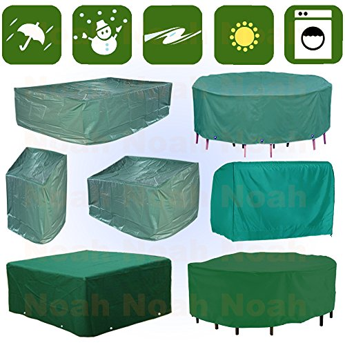 Wasserdicht-Runde-Rechteckig-Gartenmbel-Schutzhlle-Gartentisch-Tisch-Sthle-Abdeckhaube-Draussen-Breite269cmTiefe180cmHhe89cm-GWS08T