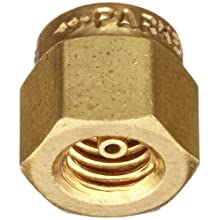 Parker A-Lok 1BLP1-B Brass Compression Tube Fitting, Cap, Tube OD