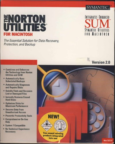 Symatec Norton Utilities for MacIntosh Version