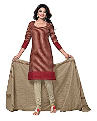 Drapes Women's Cotton Printed Unstitched Dress Material (Multicolor)
