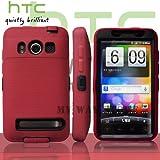 HTC EVOケース スクリーン プロテクター付属3重構造 (au WiMAX ISW11HT Screen Protector Case ) 【黒 × 赤】
