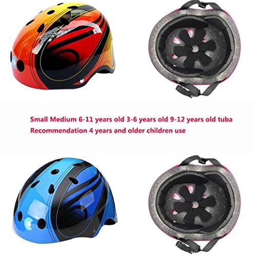 Rainbow flower Children skating helmet skates, skateboards bicycle cartoon thickening adjustable steel helmet
