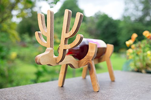 Wooden DEER wine bottle holder/rack great wedding gift.