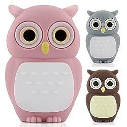 D-CLICK® High Quality 4GB/8GB/16GB/32GB/64GB/Cool Shape USB High speed Flash Memory Stick Pen Drive Disk (8GB, Pink Owl)