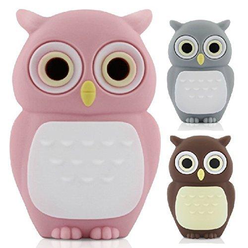 D-CLICK TM High Quality 4GB/8GB/16GB/32GB/64GB/Cool Shape USB High speed Flash Memory Stick Pen Drive Disk (16GB, Pink Owl)