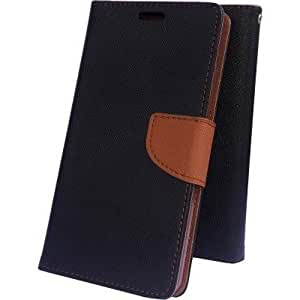 Quickshoppe Flip Cover For Samsung Galaxy J2-Brown