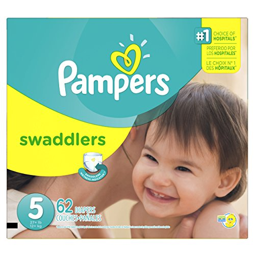 Pampers Swaddlers Diapers Super Pack, Size 5, 62 Count