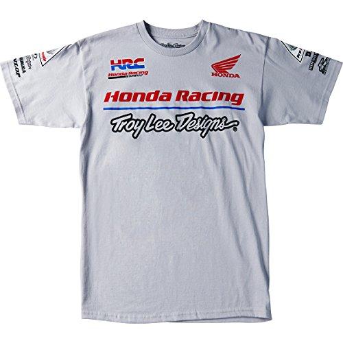 tee-shirt-troy-lee-designs-officiel-team-honda-homme-xxxl-gris