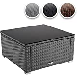 Miadomodo® RTTT05 Polyrattan Coffee Table 59 x 59 cm DIFFERENT COLOURS (Grey)