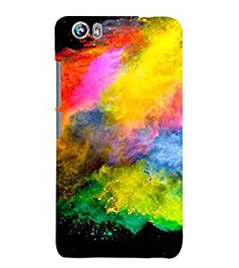ARTISTIC PAINT DUST PATTERN 3D Hard Polycarbonate Designer Back Case Cover for Micromax Canvas Fire 4 A107
