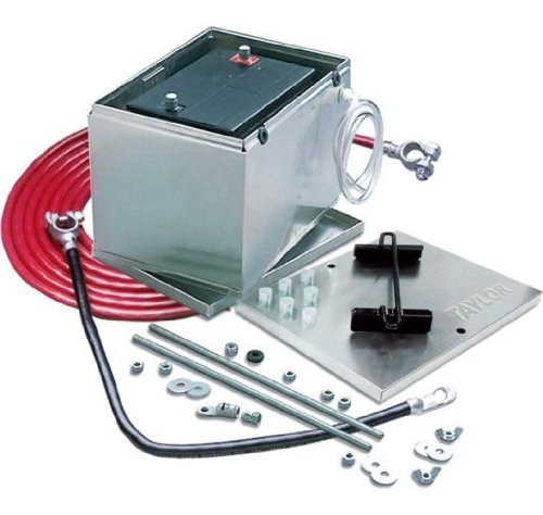 Taylor Cable 48104 Aluminum Battery Box with 1-Gauge Welding Cable Kit