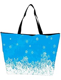Snoogg White And Blue Abstract Designer Waterproof Bag Made Of High Strength Nylon
