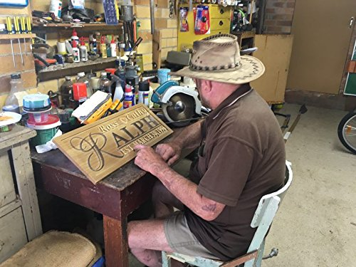 "wpa0246 Personalized Custom Wedding Anniversary Family Sign Surname Last First Name Rustic Home Décor Housewarming Gift 5 Year ""wood"" Anniversary Gift Wooden Signs"