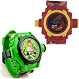 Shanti Enterprises Combo For Ben10 And Angry Birds 24 Images Projector Watch