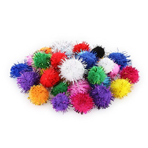 pompons glitzer pom poms glitter 33 st ck 2 gr en bommel 15mm 20mm. Black Bedroom Furniture Sets. Home Design Ideas
