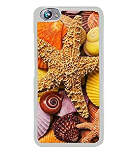 Star fish 2D Hard Polycarbonate Designer Back Case Cover for Micromax Canvas Fire 4 A107