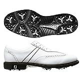 FootJoy ICON Brouge Golf Shoes, 52245, WHITE, Size: 9.5 Medium