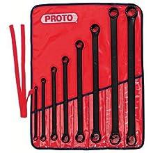 Stanley Proto J1100MB 8 Piece 12 Point Box Wrench Set, ProtoBlack