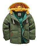 バイシン(BAISHUN)子ども ダウンコート 男女兼用 ダウンジャケット カジュアル 保温 防寒 ダウンジャケット 冬(グリーン120)