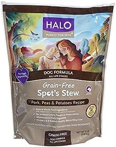 Halo Spot's Stew Grain Free Pork Peas and Potatoes Dog Food, 4-Pound