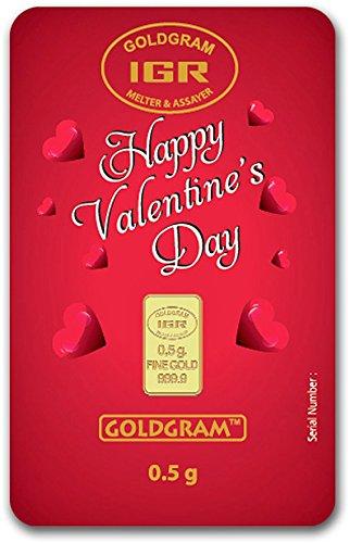Valentine's Day Assay ½ Gram Gold Bar