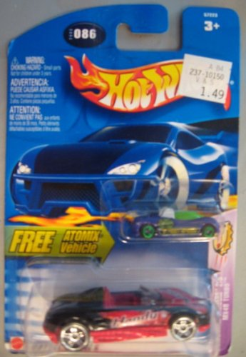 Hot Wheels 2003 Carbonated Cruisers MX48 Turbo BLACK Atomix 2/5 # 086 - 1