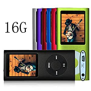 G.G.Martinsen 16 GB Black Portable Multi-lingual OS MP3/MP4 Player , Multi-Functional MP3 Player / MP4 Player with Mini USB Port, Voice Recorder , E-book reader , Media Player (Black)