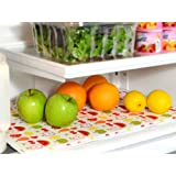 Shelf Liner Non Adhesive Machine Washable for Kitchen Shelves, Drawers & Refrigerators Fruit Design 12x18