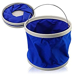 DivineXt 9L Portable Foldaway Water Bucket for Camping/Fishing/Boating