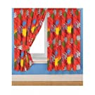 Kids/Childrens Power Rangers Jungle Fury Curtains with Tie Backs