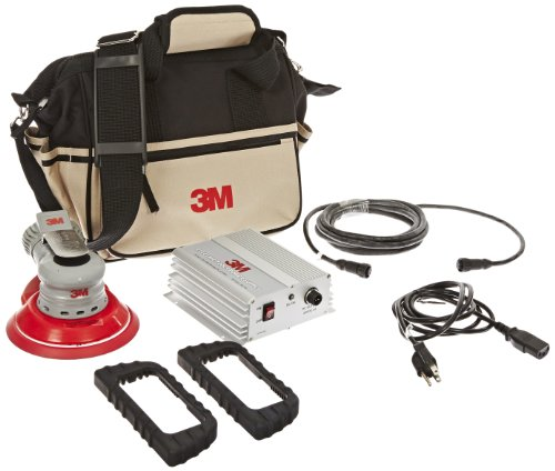 3M Electric Random Orbital Sander Kit 28522, Central Vacuum, 6 Inch, 3/16