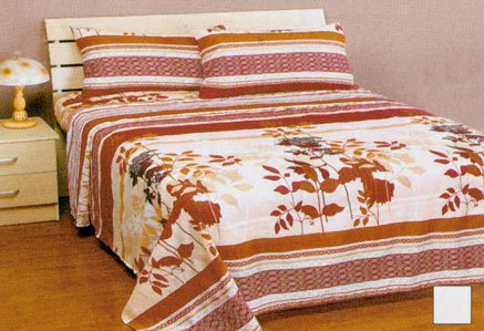 Autumn Fall Leaves Flowers Stripes Full Bed Sheets Set