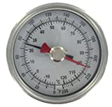 Dwyer® Pipe-Mount Bimetal Surface Thermometer, STC141, 0-150°F, 3/4