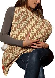 Mamascarf Breastfeeding Scarf - Retro Leaf