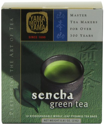 Yamamotoyama Sencha Green Tea Pyramid Bag, 0.81-Ounce Box