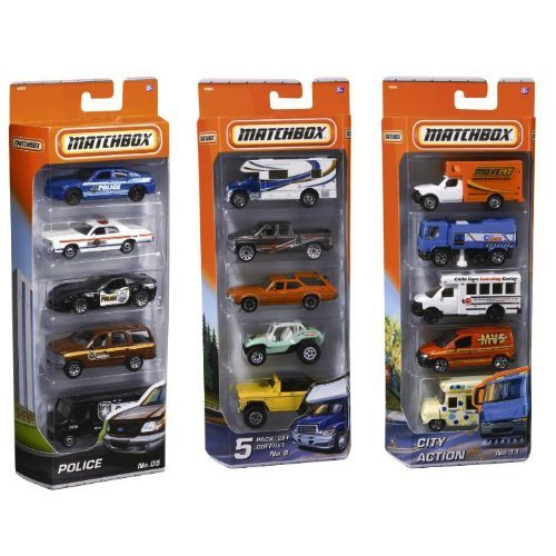 matchbox-5-pack-car-set-colors-styles-vary-by-mattel