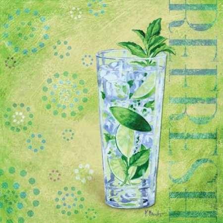 Calypso Cocktails III par Brent, Paul -Imprimé beaux-arts sur toile - Petit (49 x 49 cms)