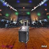 Pyle PWMA1594UFM 600 Watt Bluetooth Speaker System with USB/SD Readers FM Radio AUX Input Wireless Mic and Flashing Lights