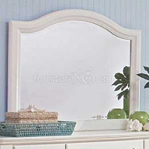 Alexander Julian's Cottage Large Arch Mirror (Beach Cottage White) by Vaughan-Bassett