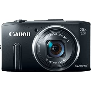 Canon PowerShot SX280 12MP Digital Camera with 20x Optical Image Stabilized Zoom with 3-Inch LCD (Black)