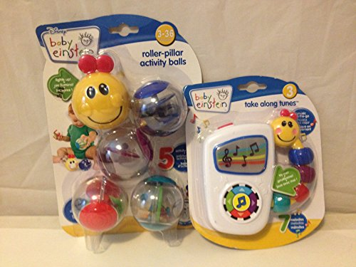 Baby Einstein Take Along Tunes AND Baby Einstein Rollar Pillar Activity Balls