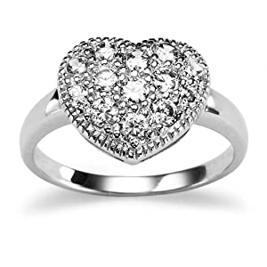 Click to buy Sterling Silver Cubic Zirconia Heart Ring from Amazon!